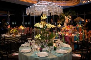 Baccarat's table at the New York Botanical Garden Orchid Dinner. (Photo: Cutty McGill)