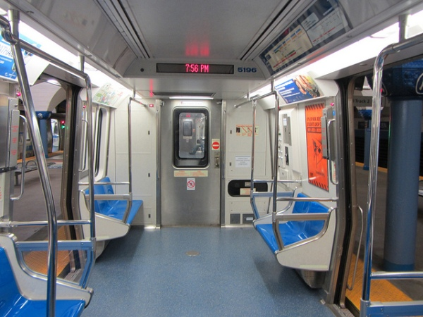 Soon you'll be able to stay in one blue plastic seat all the way to Manhattan (Sean Marshall/Flickr)