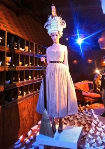 Alice + Olivia models display the enchanted experienced in the search for the golden monarch.