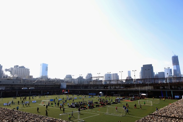 Tribeca/NYFEST Soccer Day during the 2012 Tribeca Film Festival at Pier 40. (Photo via Getty Images)