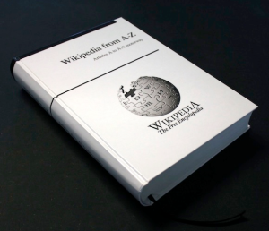 Does this mean we can start using Wikipedia for our homework? It's a book! (Indiegogo)