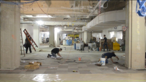 Construction in Facebook's new NYC office (Facebook NY)