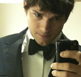 This is the profile picture on Mr. Kutcher's Facebook page. Pretty sure he's not using a Lenovo phone. (Facebook)