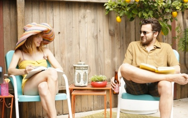 Zoe Kazan had the dual chore of playing a pair of twin sisters in The Pretty One, starring Jake Johnson.
