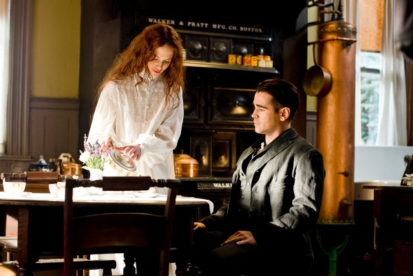 Jessica Brown Findlay and Colin Farrell in Winter's Tale.