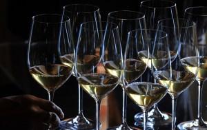 A picture shows glasses of Saint-Emilion