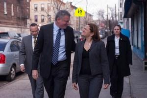 Mayor Bill de Blasio and Council Speaker Melissa Mark-Viverito. (Photo: NYC Council/William Alatriste)