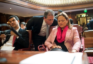 Councilman Brad Lander with Council Speaker Melissa Mark-Viverito. (Photo: William Alatriste/NYC Council)