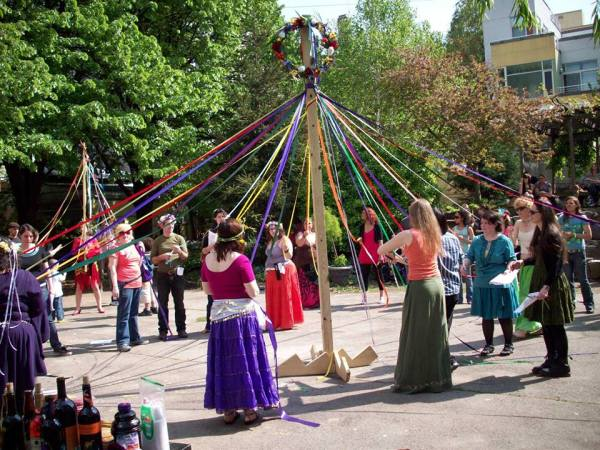 Beltane in the East Village 2008 (Wiccan Family Temple Facebook)