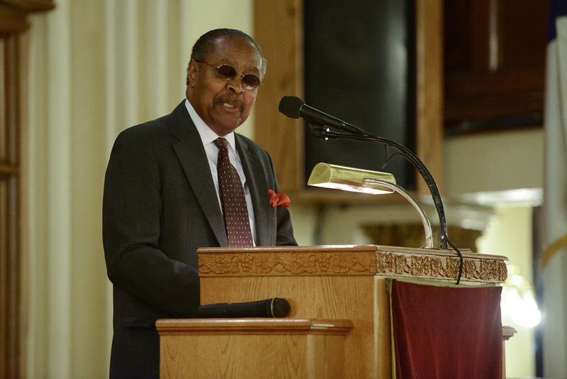 Dr. Jones delivers remarks during the 23rd Annual Commemoration of the late Rev. Dr. Martin Luther King  Jr. (Photo by Shahar Azran) .
