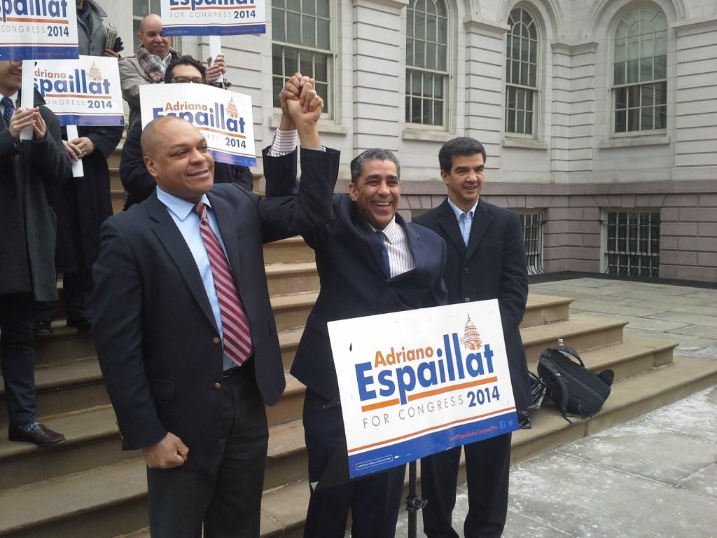 State Senator Adriano Espaillat with Assemblyman Karim Camara today.