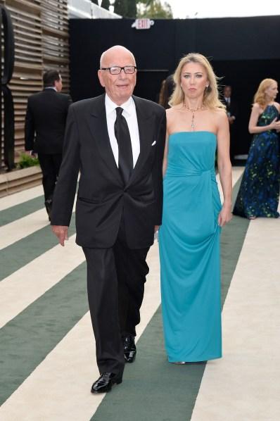 Rupert Murdoch and Juliet de Baubigny