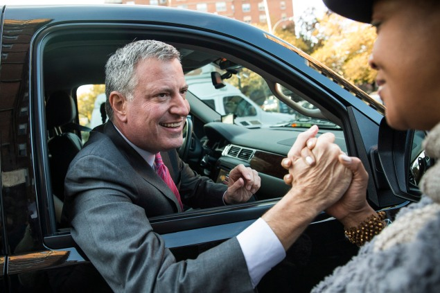 Bill de Blasio expressed support for Ydanis Rodriguez's alternate side parking bill (Getty Images).