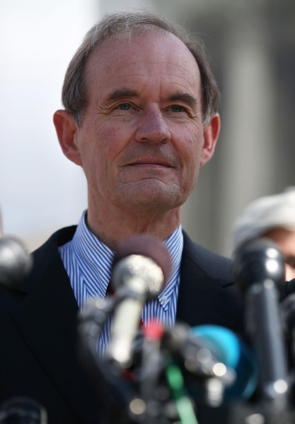 David Boies talks to the media after oral arguments at the U.S. Supreme Court, on March 26, 2013 in Washington, DC. (Photo via Getty Images)