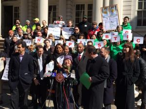 Council member Margaret Chin speaks (via NYLCV Twitter)
