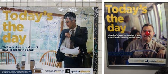 Left photo via New York Shitty; right photo by Mark Duffy.