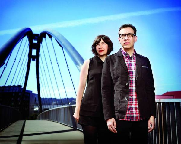 Fred Armisen and Carrie Brownstein, the stars of the show (Photo courtesy of Portlandia/IFC).