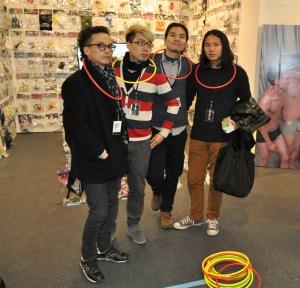 Some of the Doubly Fly Art Center artists. (Photo by Zoë Lescaze)