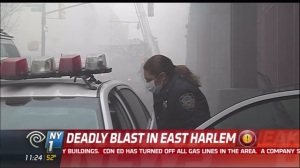A deadly blast rocked East Harlem this morning. (Photo: NY1)