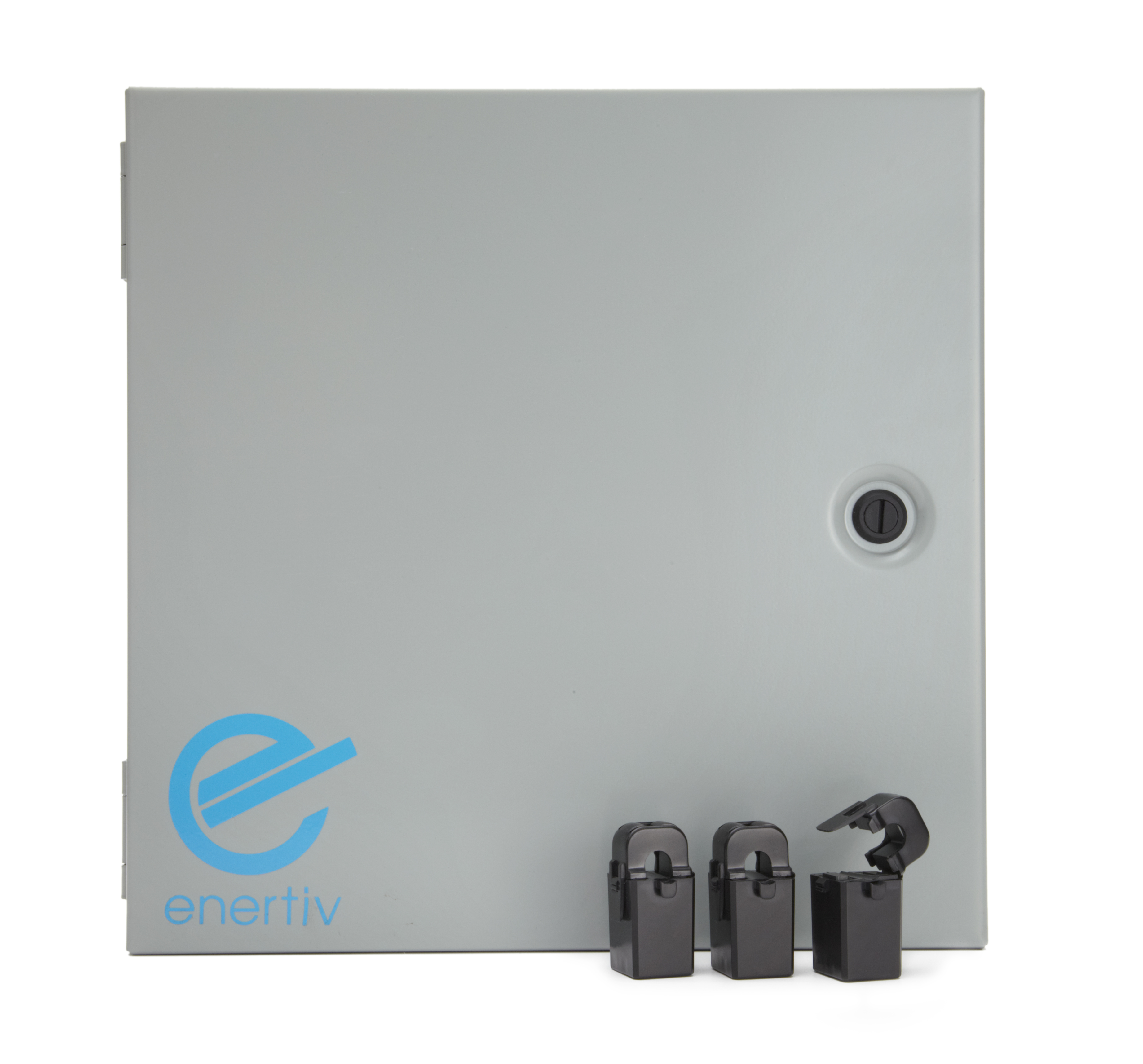 This is the Enertiv hardware that is installed by your breaker box.