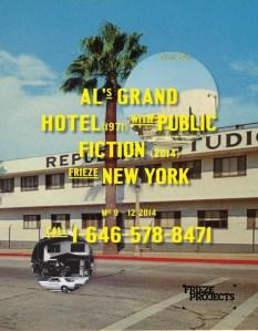 Public Fiction, 'Ad for Al's Grant Hotel,' 2014.