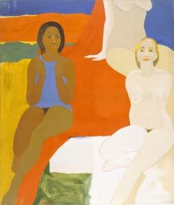 Emma Amos, 'Three Figures,' 1966. (© Emma Amos / Licensed by VAGA, New York, NY. Photo by Becket Logan)
