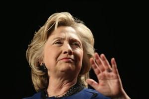 Hillary Clinton. (Photo: Joe Raedle/Getty)