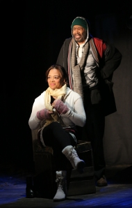Lauren Valez and Anthony Chisholm in 'The Happiest Song Plays Last.'
