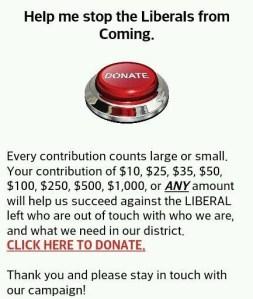 Part of Congressman Michael Grimm's fund-raising email.