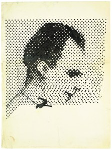 'Raster Drawing (Portrait of Lee Harvey Oswald)' (1963) by Polke. (Estate of Sigmar Polke/ Artists Rights Society (ARS), New York / VG Bild-Kunst, Bonn)