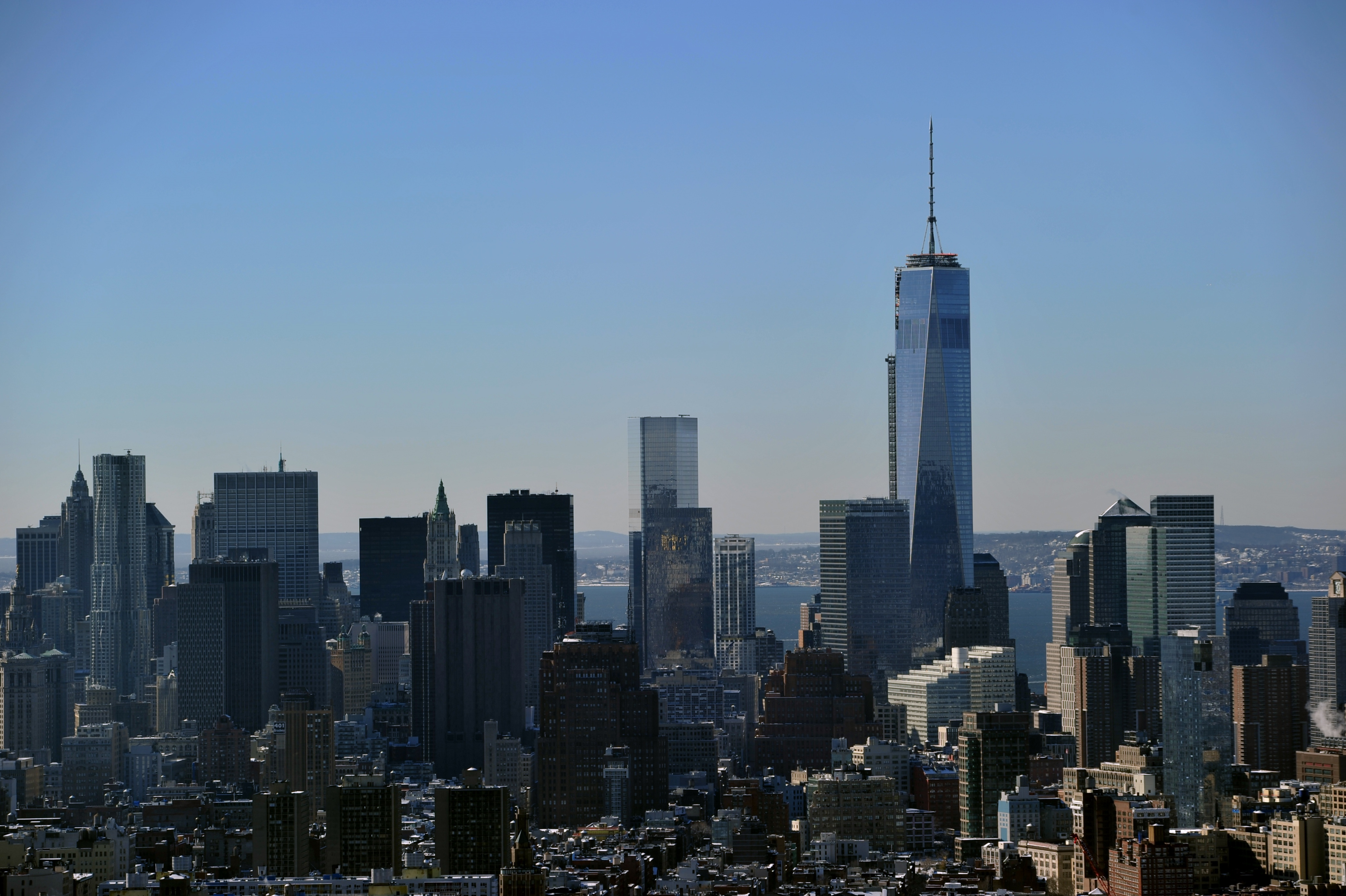 A view of New York City, including One World Trade Center. (Photo: STAN HONDA/AFP/Getty Images)