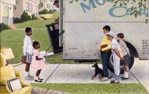 Norman Rockwell, 'New Kids in the Neighborhood (Negro in the Suburbs),' 1967. (© 2013 the Norman Rockwell Family Entities)