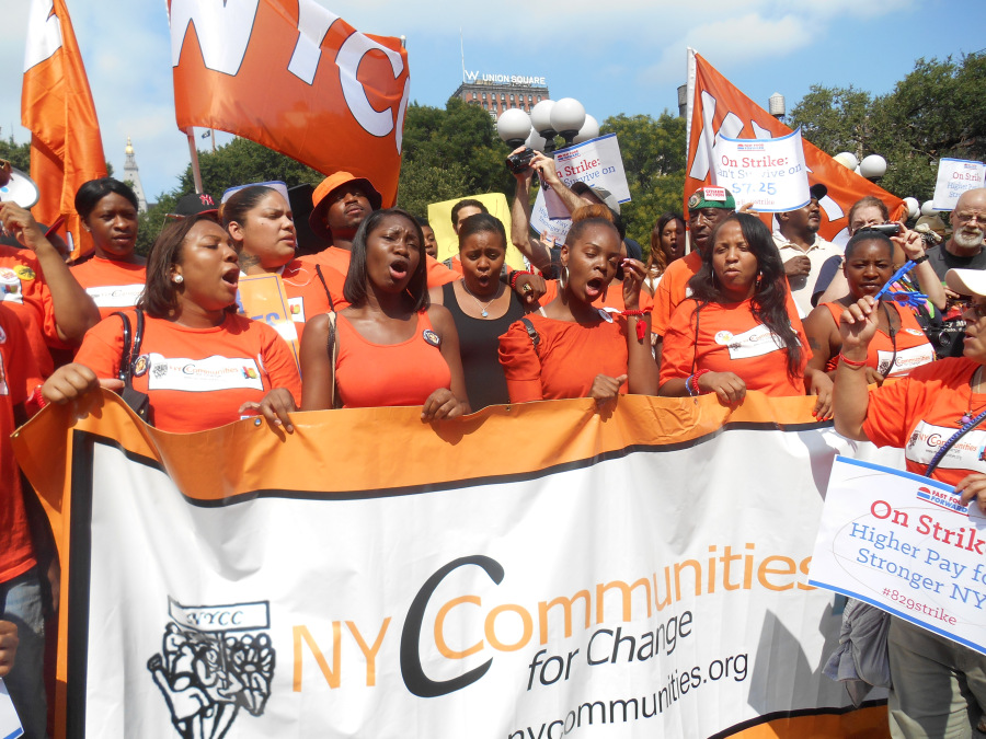 A New York Communities for Change rally.