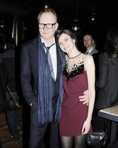 Stellan Skarsgard and Stacy Martin. (Courtesy Patrick McMullan)