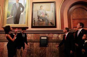 Former Gov.David Paterson's official portrait was unveiled Sunday. (Photo: Pool photo by Nathaniel Brooks/The New York Times via polhudson.lohudblogs.com)