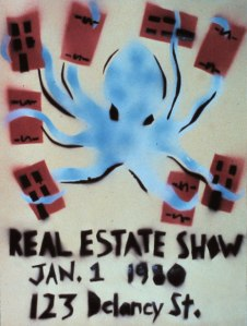 'Real Estate Show' poster by Becky Howland. (Courtesy the artist/98 Bowery)