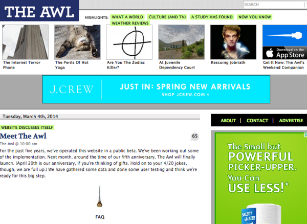 The Awl announces changes