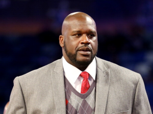 Shaquille O'Neal, probably thinking about how much he loves FitBit. (Getty)