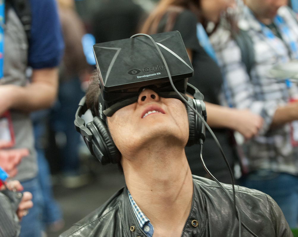 Lost in Oculus Rift at GDC 2014 (photo via GDV, CC BY 2.0)
