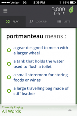 We know this one because we were in The Importance of Being Earnest in high school. (Screengrab: Vocabulary.com)
