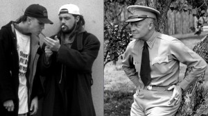 Jay and Silent Bob and General Dwight Eisenhower. (photo composite: wikimedia)