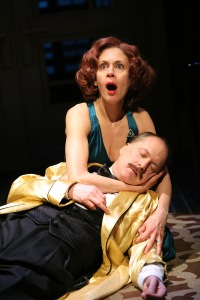 Jessica Hecht and Daniel Jenkins in 'Stage Kiss.' (© Joan Marcus)