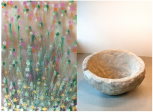 Works by Higgins and Occhionero. (Courtesy the artists and Kristen Lorello)