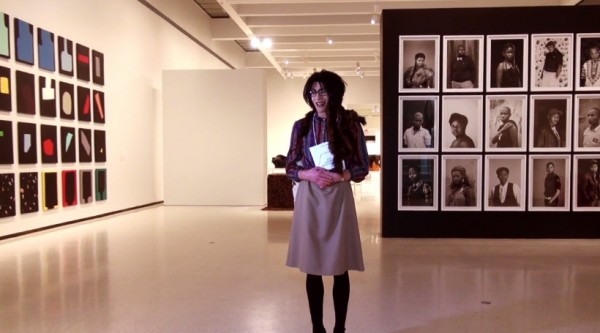 Denolt with works by Sadie Benning and Muholi. (Courtesy TQTV)