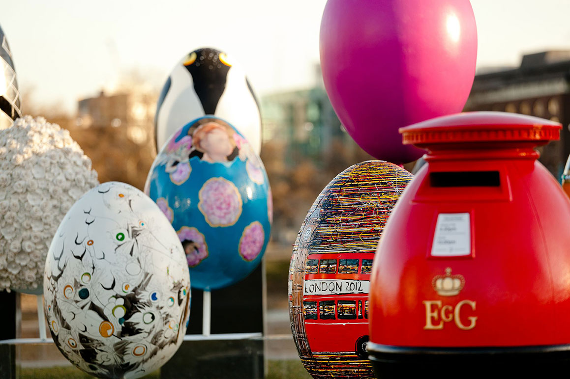 Over 200 eggs will be placed throughout the five boroughs (Photo by Fabergé).