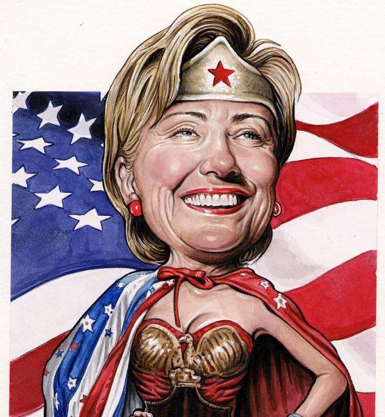Hillary Clinton as Wonder Woman