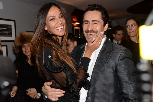 "Madalina Ghenea, Demian Bichir==The Cinema Society with Links of London and Moet & Chandon host the after party for Fox Searchlight Pictures' ""Dom Hemingway""==Il Principe at Hotel Hugo, NYC==March 27, 2014==©Patrick McMullan==Photo- Clint Spaulding/PatrickMcMullan.com-===="