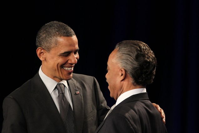 President Barack Obama with Rev. Al Sharpton. (Photo: Getty)