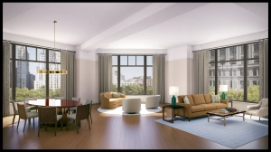An interior rendering of 10 Madison Square Park.