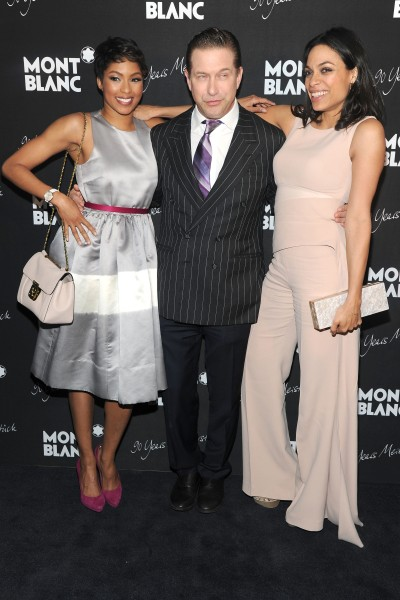 Alicia Quarles, Stephen Baldwin and Rosario Dawson, from left. (Photo - Owen Hoffmann/ PatrickMcMullan.com)
